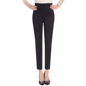 Image 2 - 5XL Pants Women Summer Elastic Slim High Waist Pants Female Trousers Women Casual Streetwear Plus Size Office Ladies Pants Q1427