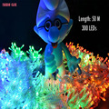 EU 50M 300 LED Colorful Party Wedding Decorative For Home Xmas Christmas Lights Garland Tree Twinkle String Lights Navidad Luces