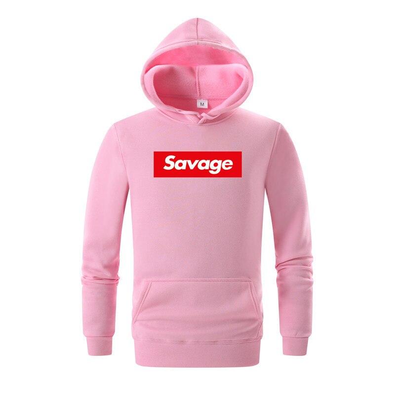 New 21 Savage Hoodies Man Parody No Heart X Savage Letter Print Hoodie Sweatshirt Hip Hop Hooded Long Sleeves White pink Hoody