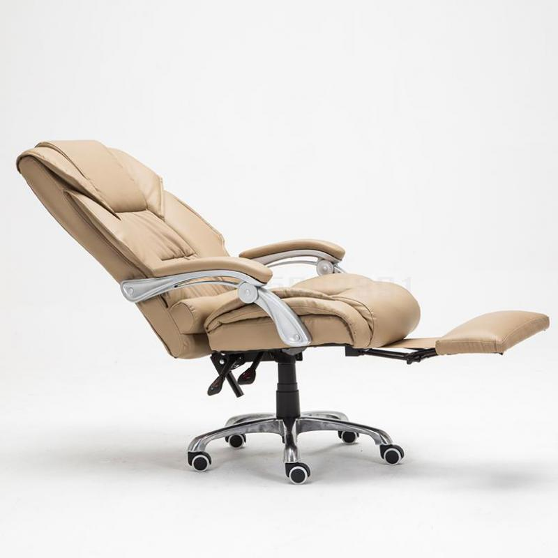 Сверло компьютерное кресло домашнее лежащее офисное кресло босс большой сдвиг поворотное кожаное кресло подъемное вращающееся кресло Офисные стулья      АлиЭкспресс