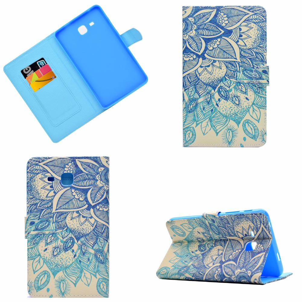For Samsung Galaxy Tab A A6 7.0 SM-T280 Case, Printing Smart Cover Case For Samsung Tab A 7 T285 T280 funda Sleep/Wake Cases ...