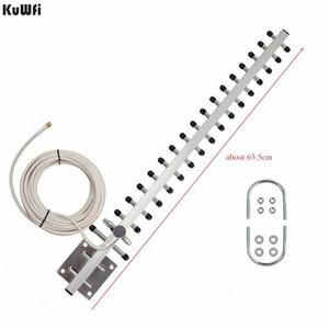 Image 2 - KuWFi Antena Wifi Antenna 4G LTE Ăng Ten SMA nam WIFI directional antenna 20dBi 4G Router ăng ten 2500  2700 Mhz cho Router