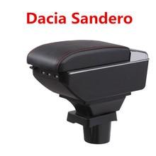 Для Dacia Sandero подлокотник коробка центральный магазин содержание коробка для хранения Dacia подлокотник коробка с подстаканником пепельница USB интерфейс