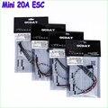 4 pçs/lote OCDAY 20A Mini 2-4 S Lipo ESC BLHeli ONESHOT para QAV250 quadcopter rc 250 Alienígena zangão Atacado