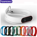 For Xiaomi Mi Band 2 Replacement Strap For Xiaomi 2 Smart Wristband Silicone Strap Belt for Miband 2 Bracelet Dua; colors