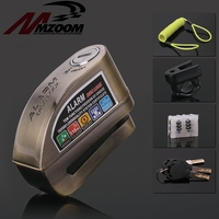 Motorcycle Waterproof Alarm Lock Bike Steelmate Disc Lock Warning Security Anti theft Brake Rotor Padlock Alarma Moto