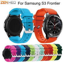 ZENHEO 22mm Sports Silicone Strap for Samsung Gear S3 Frontier Band for Gear S3 Classic Rubber Watchband Replacement Wristband все цены