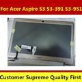Champán asamblea lcd del ordenador portátil para acer aspire s3 s3-391 s3-951 ms2346 zenbook matriz lcd pantalla b133xtf01.1 b133xw03 v3