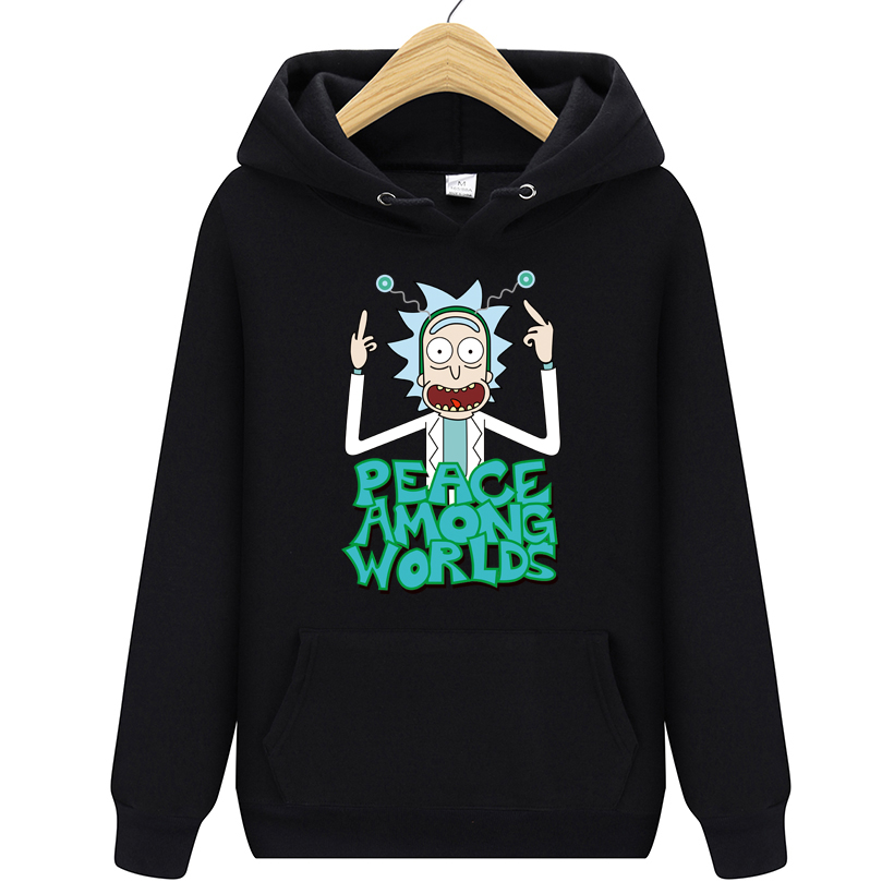 Print Hoodie Sweatshirt Morty Autum Rick Funny Cotton Man Fashion New-Design And