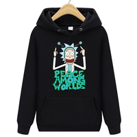2019 Autum New Design Rick and morty Mens Hoodies Cotton Funny Print Hoodie Man Fashion Rick morty Casual Hoodie Sweatshirt Men Sweatshirts & Hoodies