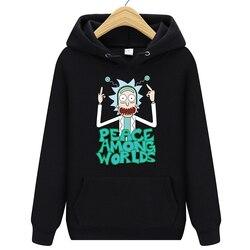2019 Autum New Design Rick and morty Mens Hoodies Cotton Funny Print Hoodie Man Fashion Rick morty Casual Hoodie Sweatshirt 1
