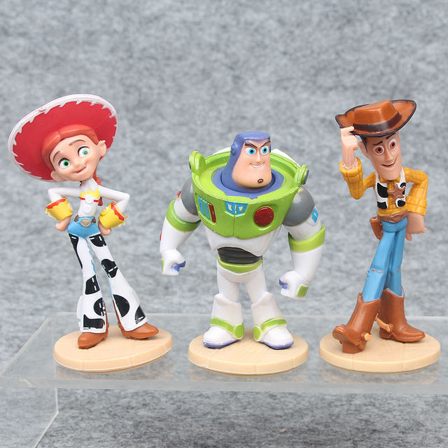 3pcs 1lot Toy Story 3 Buzz Lightyear Woody 8 10cm Action Figures