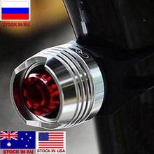 Dropshipping LED Waterproof Bike Bicycle Cycling Rear Tail Helmet Red Flash Light Safety Warning Lamp Safety Caution Light