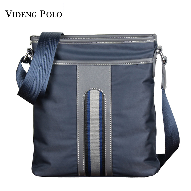VIDENG POLO Brand Men Business Messenger Bags Casual Multifunction Small Bags Oxford Waterproof Shoulder Military Crossbody Bags