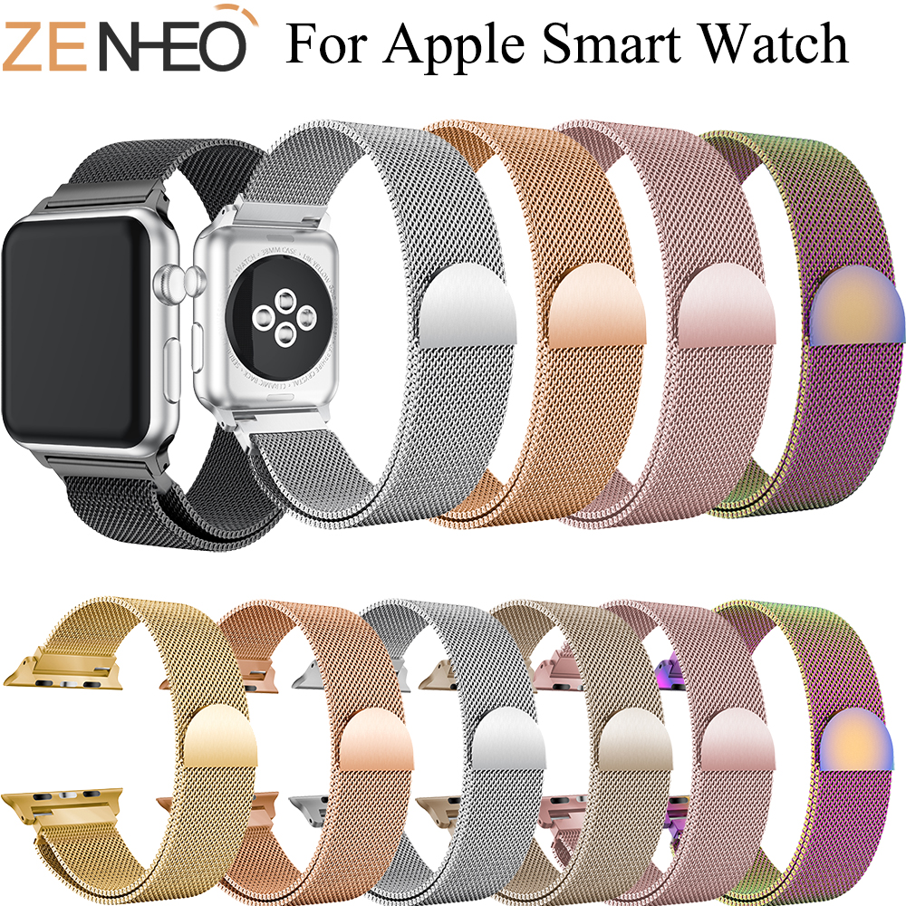 Milanese Loop Bracelet Stainless Steel Band For Apple Watch Series 1/2/3/ 42mm 38mm Bracelet Strap For Iwatch Series 4 40mm 44m