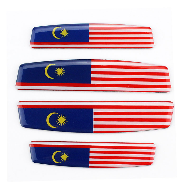 Door Anti Collision Malaysia Flag Emblem Car Sticker 3D Decals Car Styling Protection Door Decoration Decal Auto Accessories 1 pair door protector anti collision canada flag emblem 3d car stickers creative car styling automobile accessories