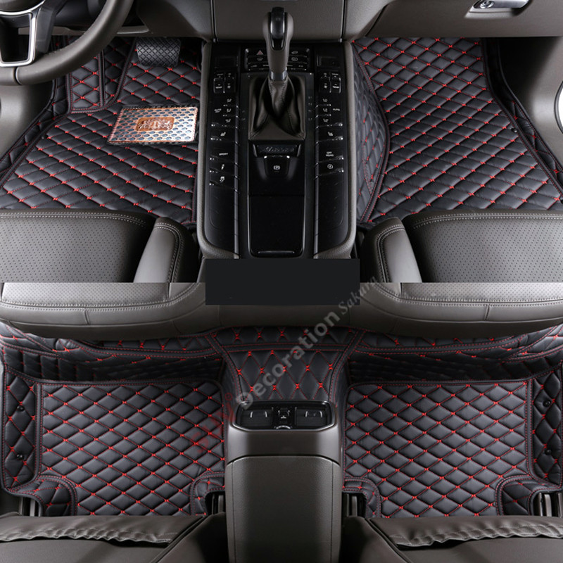 For  Lincoln Navigator U228 2003-2006 Accessories Interior Leather Carpets Cover Car Foot Mat Floor Pad 1set