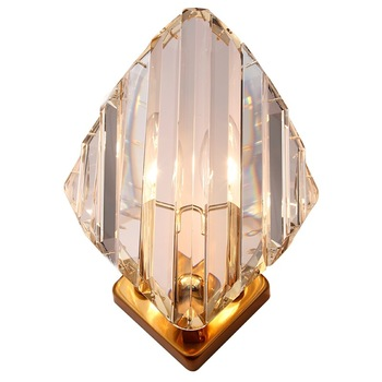 Modern Clear Crystal Luxurious Led Foyer Wall Lamps Bedroom Bedside Restaurant TV Background Wall Nordic Sconce Free Shipping
