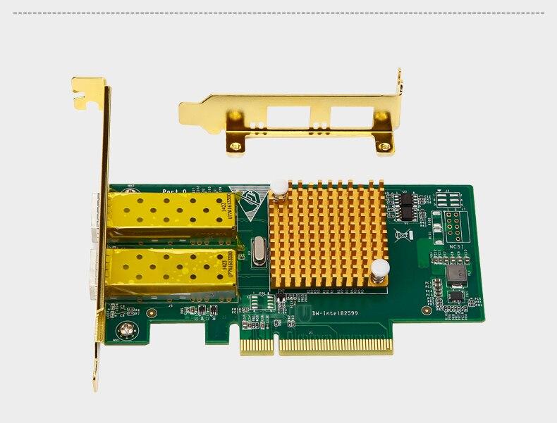 Intel 82599ES Чипсет SFP Волокно оптический сетевой карты сервер сетевой карты