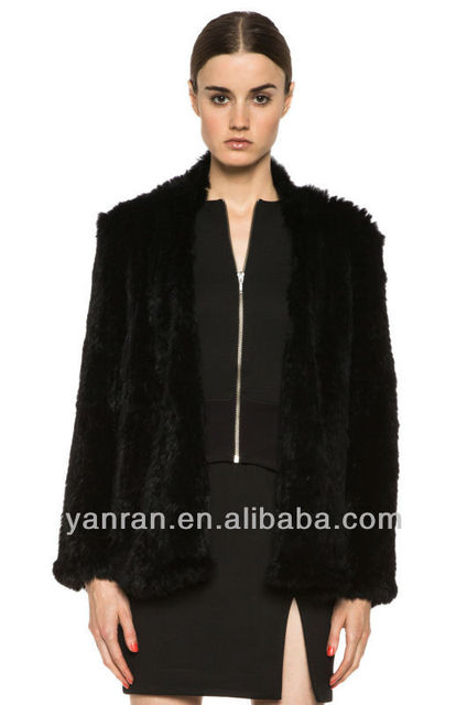 PROMOTION HOT SALE YR421 Euro Style Real Rabbit knit Fur Coat Wholesale~Retail~customize