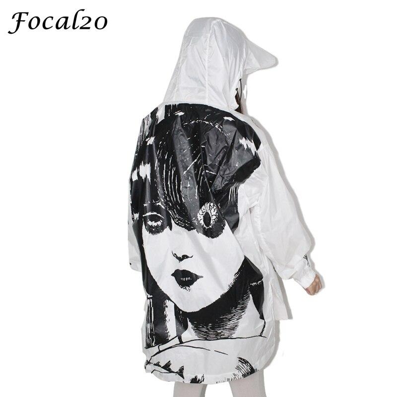 Focal20 Streetwear Junji Itou Manga Print Oversize Women Hooded Jacket Anime Hoodie Pullover Jacket Coat Outwear Streetwear 4