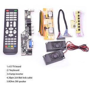 Image 2 - V53 Universal TV LCD 10 42 นิ้วLVDSบอร์ดทีวีVGA AV HDMI USB DS v53RL.BKชุดเต็มสำหรับLTM190M2