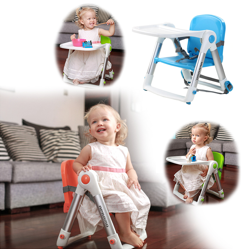 Baby High Chair Booster Seat Multi-Function Folding Safety Dining Chair Suitable for Traveling Dinner Feeding Seats