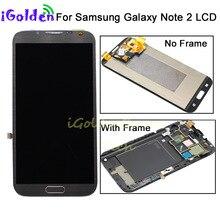 AMOLED LCD قطع غيار لسامسونج غالاكسي نوت 2 N7100 N7105 T889 i317 i605 L900 LCD عرض تعمل باللمس محول الأرقام الجمعية