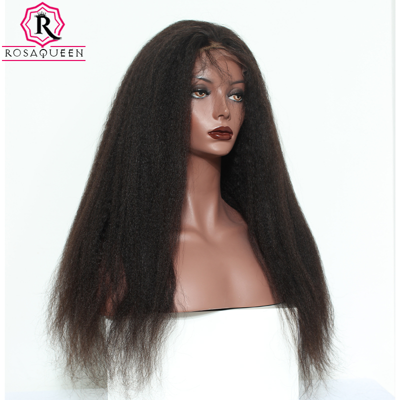 Kinky Straight 250% Denisty 13x4 Lace Front Human Hair Wigs For Women Dolago Brazilian Remy Lace Frontal Wigs Pre Plucked Black