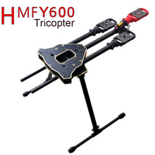 F10811 HMF Y600 Tricopter 3 axle Copter Frame Kit w/ High Landing Gear & Gimbal Hanging Rod FPV RC Drone Y3