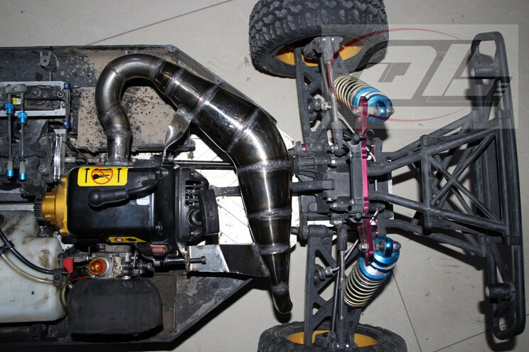 For HPI QL-Racing-5T LOSI 5IVE-T 1//5 Truck Stainless Steel Metal Exhaust Pipe N