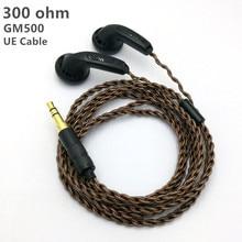 GM500 המקורי ב אוזן אוזניות 15mm מוסיקה 300ohm איכות צליל HIFI אוזניות (MX500 סגנון אוזניות) 3.5mm L כיפוף hifi כבל