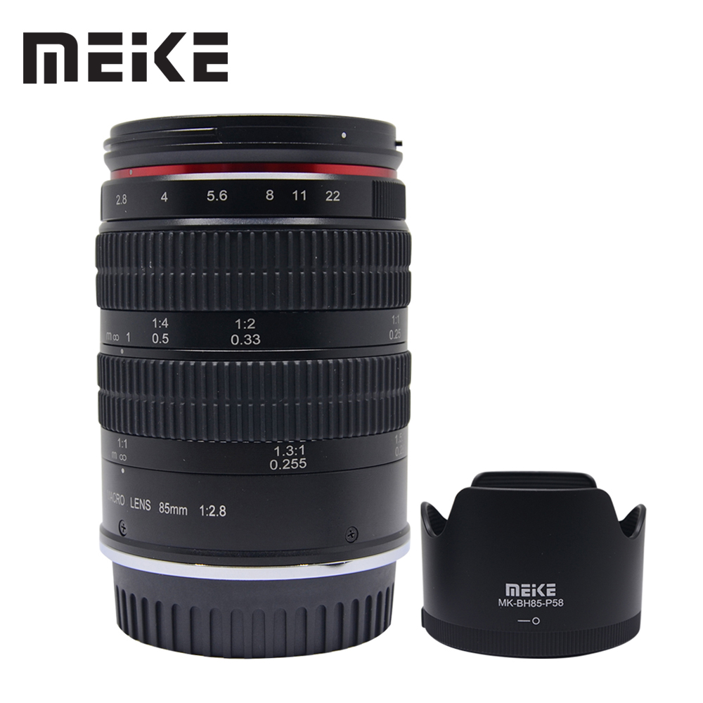 Meike MK-85mm F/2.8 Full Frame APS-C Super MediumTelephoto Macro Lens for Canon EF-Mount DSLR Camera meike mk d750 battery grip pack for nikon d750 dslr camera replacement mb d16 as en el15 battery