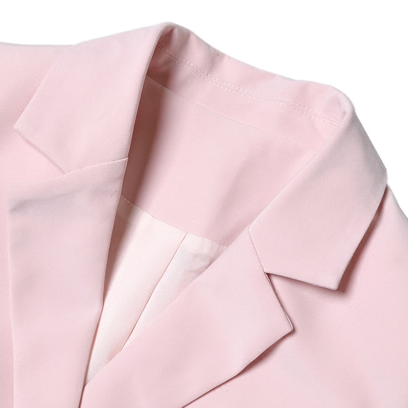 fb5b45b0795 Bodycon Celebrity Blazers Rosa Delgado Botonadura Caliente Venta Traje Set  Populares Pantalones Mujeres Workwear Doble Trajes ...