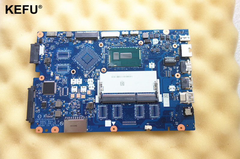 item NEW Laptop motherboard Fit for Lenovo Ideapad 100-15IBY 100-15IBD CG410/CG510 NM-A681 <font><b>SR27G</b></font> I3-5005U DDR3L Fully tested image