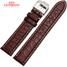 Laopijiang аллигатора пояса высокая — класс мужские часы ремешок мода часы аксессуары 20 / 21 мм