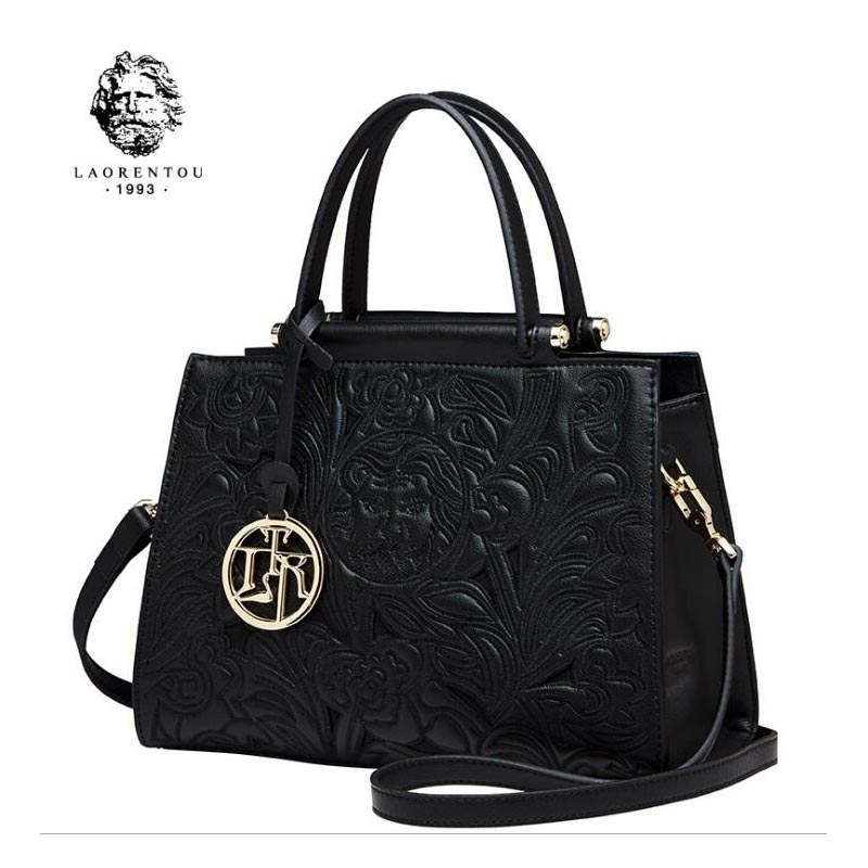 Famous brands top Cow Leather women bag Fashion Shoulder Messenger Bag 2018 new stylish embossed handbag stylish bare shoulder printed women s chiffon top