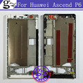 black white New Housing Middle Frame Bezel/ Middle Plate Cover For Huawei Ascend P6