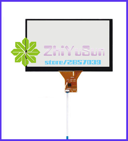 ZhiYuSun 7 inch capacitive touch screen/GT911 6 pin / 165 * 99/165*100mm 6 line 800*480 Resolution cable Car DVD navigation zhiyusun gt911 6 pin 167 93mm line touch screen car dvd navigation 7 inch capacitive universal car audio capacitor type