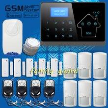 Dhl новая модель семьи ополчение-беспроводные синий флэш-сирена APP GSM SMS жк-цифровой окна дома безопасный охранная голос Alarma авто-диск DIY