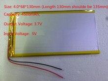 Meilleur batterie marque Bonne Qualité COSLight Cellulaire 3.7 V 4500 mAH (Capacité Réelle) Li-ion batterie pour 8,9, U9GT3 Tablet PC 4.0*68*13