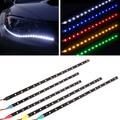 2016 New 30cm 15LED or 60cm 30 LED Daytime Running lights 12V 3528 Waterproof Auto Car DRL Driving Fog Lamp LED Strip Light
