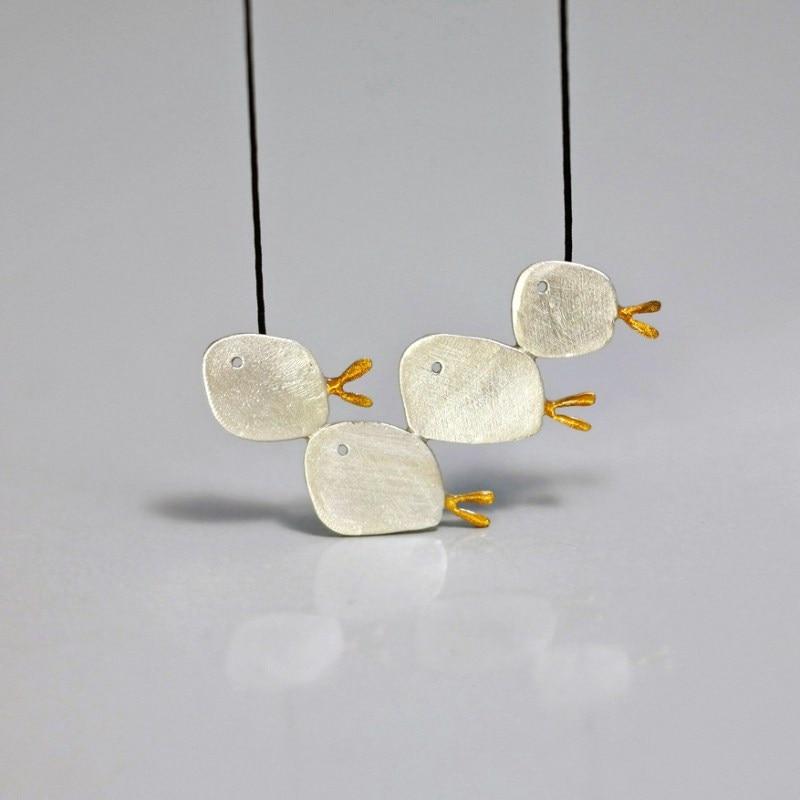 Woman fashion pendants Handmade 925 sterling silver necklaces & pendants adorable fish pendant necklace jewelry