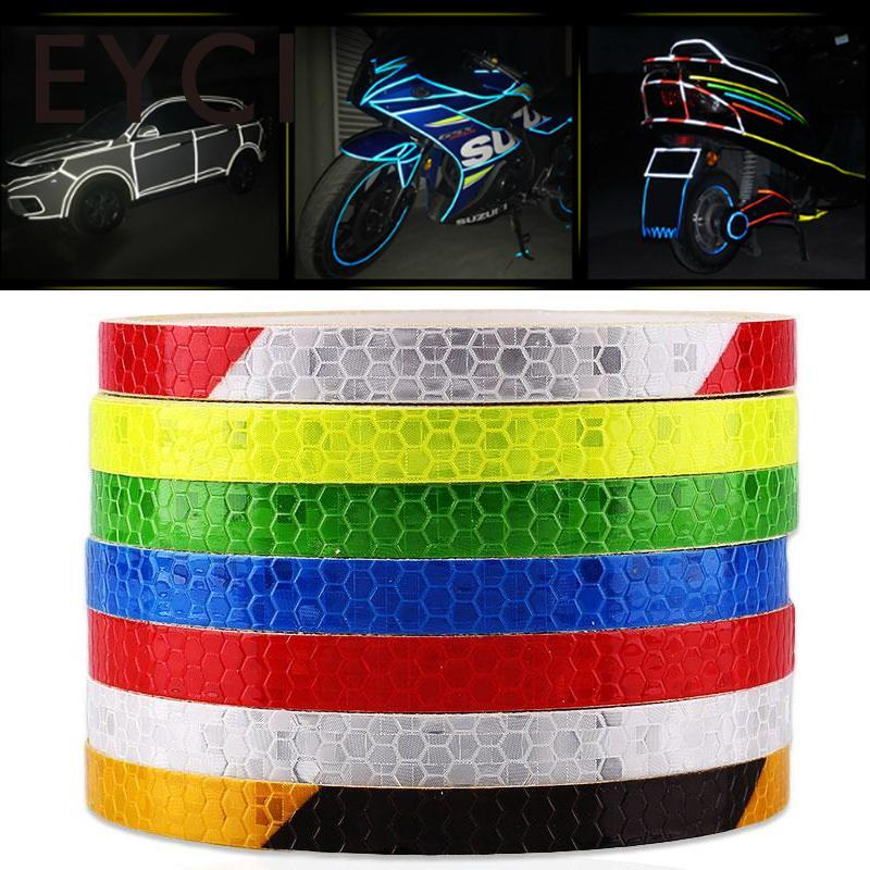 EYCI 1 cm*8 m Reflective adhesive tape, Reflective tape sticker for Truck,Car,Motorcycle,Bike, safety use yjzt 15cm 3cm 2x i m going fishing reflective personality car sticker motorcycle parts c1 7615