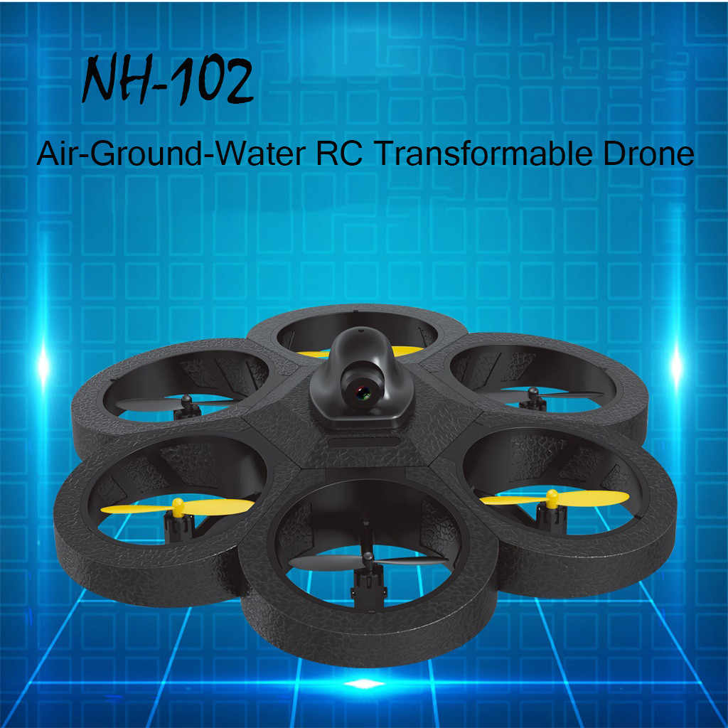 Dron profesional RC Drone NH-012 RC aire-tierra-agua Transformable RC juguetes aire-tierra-agua RC transformable Drone