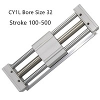 CY1L32 CY1L RMTL Magnetically Coupled Rodless SMC Air Cylinder CY1L32 100 CY1L32 200 CY1L32 300 CY1L32 400 CY1L32 500