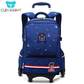 SUN EIGHT Wheeled Bag School Bag School Backpack For Girls/boy Six Wheels Trolley School Bags Kid Luggage Wheeled Backpack - DISCOUNT ITEM  30% OFF All Category