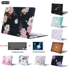 Marble Pattern Hard Laptop Case For MacBook Air 11 13 inch Pro Retina 12 13 15 With Touch Bar Shell Case For mac book Air 13.3 marble texture cover case for apple macbook air pro retina 11 12 13 15 inch for mac book 11 6 13 3 15 4 hard shell laptop bag