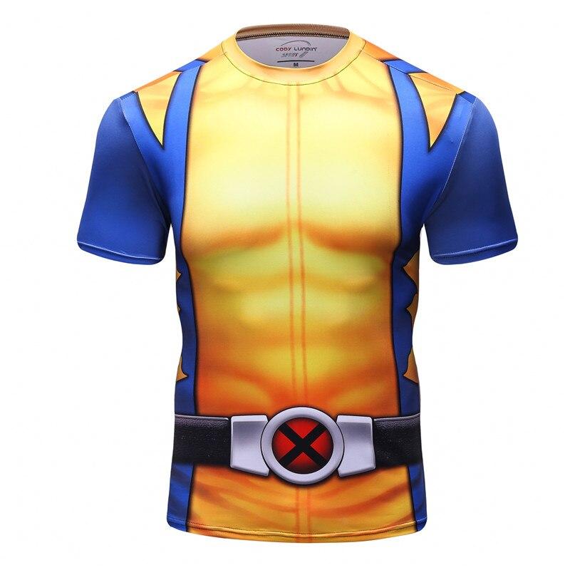 db1540683 2017 New 3D T Shirt Men Fitness Compression Shirts Tops Male Print  Superhero Superman punisher Crossfit