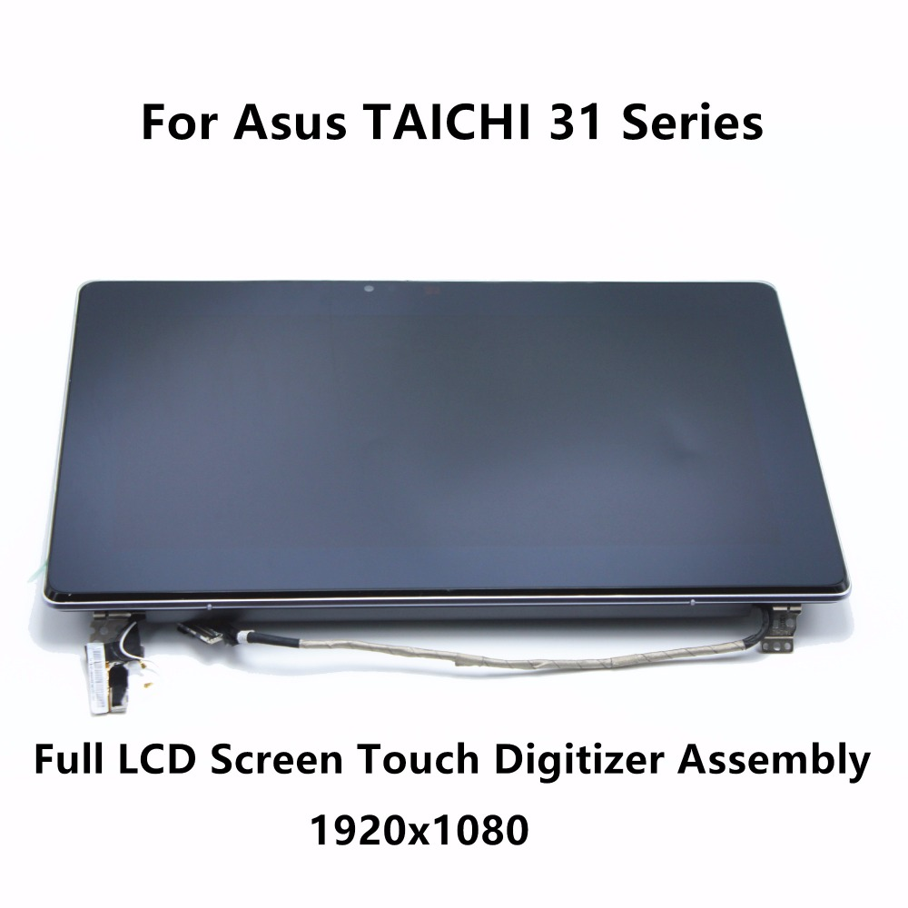 99% New Full LCD Screen Touch Digitizer Assembly Upper Part N133HSG-WJ1 For Asus TAICHI 31 Series 31-CX020H 31-CX009H 31-NS51T laptop lcd assembly for asus taichi 31 lcd screen display touch digitizer replacement repair panel fix part